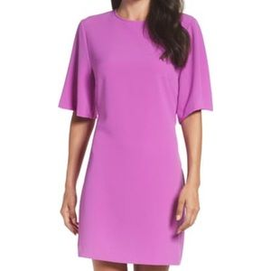 Violet shift dress